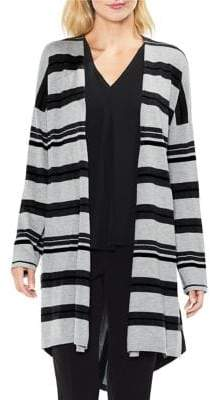 Vince Camuto Colorblock Open-Front Cardigan