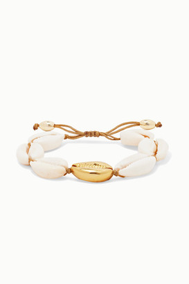 Puka Tohum - Large Gold-plated And Shell Bracelet