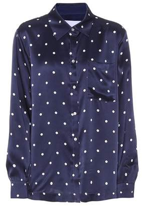 Asceno Polka-dot silk pyjama shirt