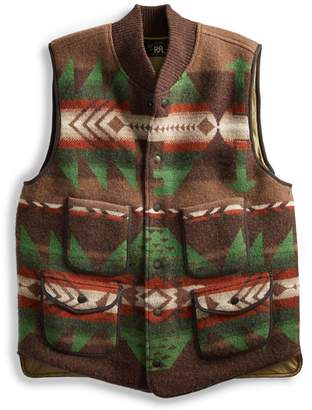 Ralph Lauren Boiled Wool Jacquard Vest