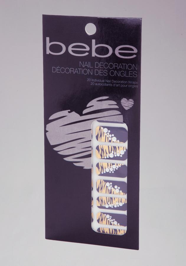 Bebe Animal & Rhinestone Nail Decoration