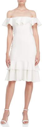 Jay Godfrey The Momoa Flounce Midi Dress
