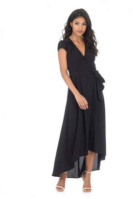 AX Paris Capped Sleeve Waterfall Dress