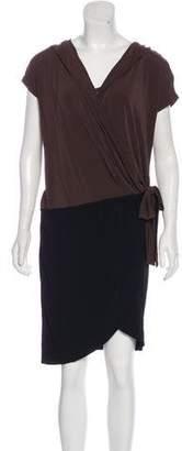 Max Mara Knee-Length Wrap Dress