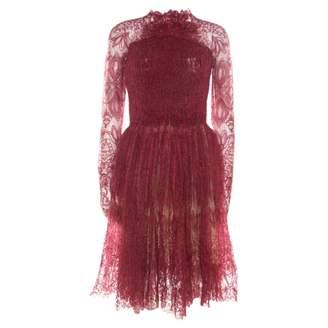 Ermanno Scervino Red Silk Dresses