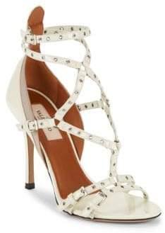 Valentino Open-Toe Leather Stiletto Sandals