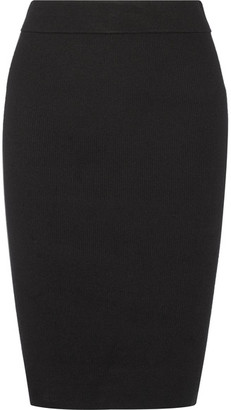 DKNY - Stretch-knit Skirt - Black $240 thestylecure.com