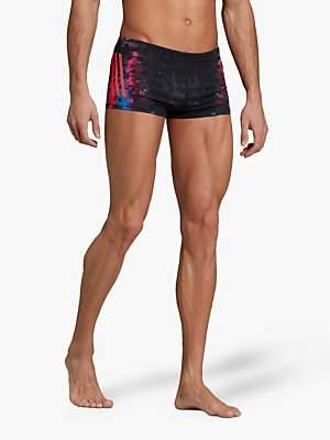 3ea1fbb4c8 adidas Pro 3-Stripes Graphic Swim Boxers, Black/Shock Red