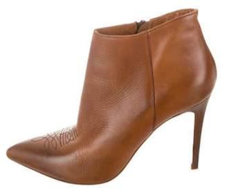 Barneys New York Barney's New York Pointed-Toe Ankle Boots Brown Barney's New York Pointed-Toe Ankle Boots