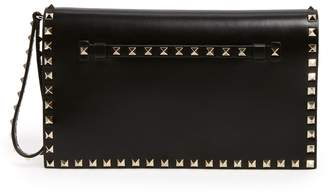 Valentino 'Rockstud' Leather Flap Clutch