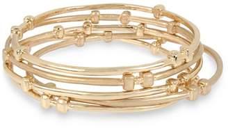 Robert Lee Morris Soho Mixed Beaded Bangle Bracelet Set