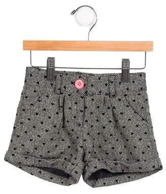 Billieblush Girls' Metallic-Accented Tweed Shorts w/ Tags