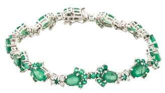 14K Emerald & Diamond Link Bracelet