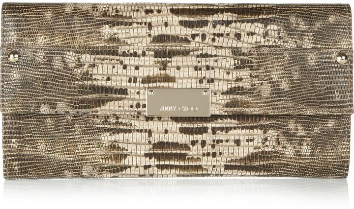 Jimmy Choo Reese lizard-effect leather wallet
