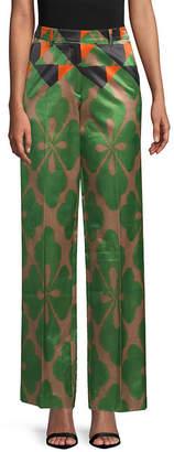 Dries Van Noten Printed Wide-Leg Pant