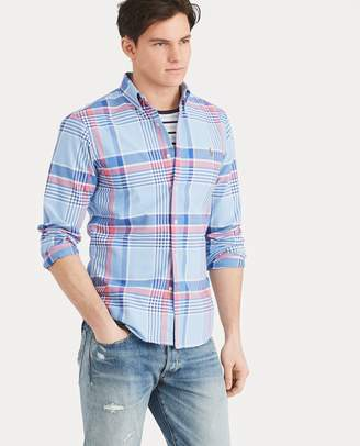 Ralph Lauren Slim Fit Plaid Oxford Shirt