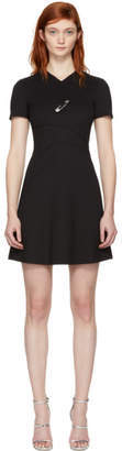 Versus Black Cross Over Safety Pin Dress