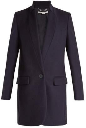 Stella McCartney Bryce Single Breasted Wool Blend Coat - Womens - Navy