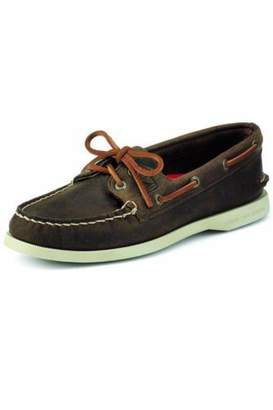 Sperry Brown Leather Boat-Shoe