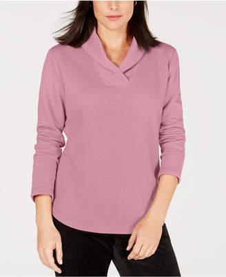 Karen Scott Shawl-Collar Sweatshirt