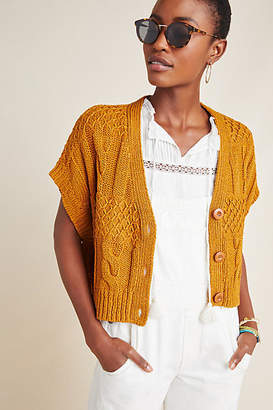 Anthropologie Cropped Cable-Knit Cardigan