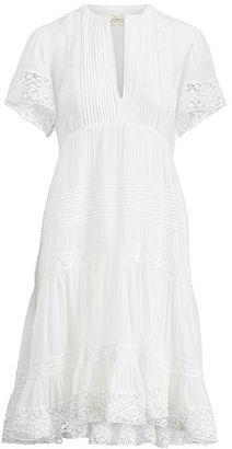 Ralph Lauren Denim & Supply Pintucked Lace-Trim Dress $165 thestylecure.com