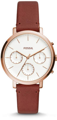 Fossil Sylvia Multifunction Terracotta Leather Watch