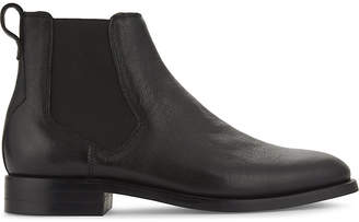 Aldo Mens Black Luxury Gilmont Grained Leather Chelsea Boots