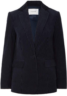 Frame Cotton-blend Corduroy Blazer - Navy