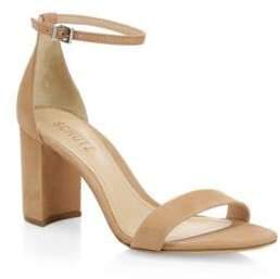 Schutz Anna Lee Nubuck Ankle Strap Sandals