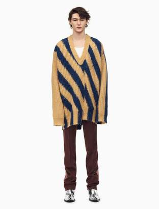 Calvin Klein striped knit v-neck pullover