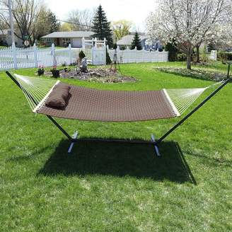 Freeport Park Angelo Quilted Designs Double Fabric 2 Person Hammock with Stand