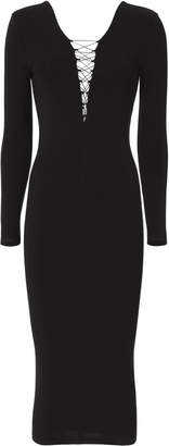 T by Alexander Wang Lace-Up Midi Dress $325 thestylecure.com
