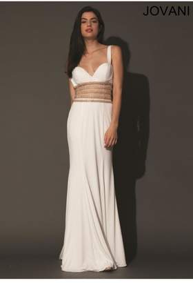 Jovani White Prom Gown