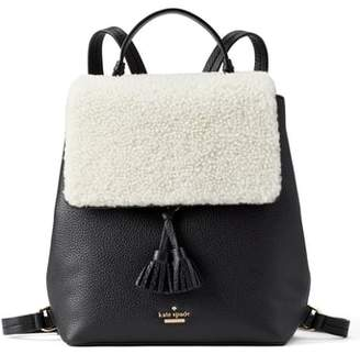 Kate Spade Hayes Street - Teba Genuine Shearling & Leather Backpack