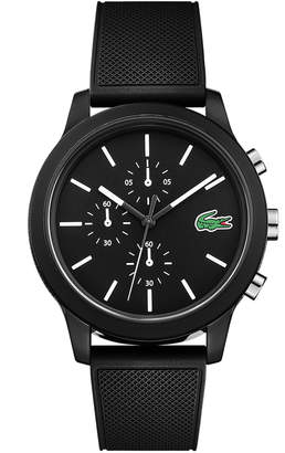 Lacoste Men's 12.12 Chronograph Watch with Black Silicone Strap