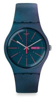 Swatch Archi-Mix Collection Silicone Strap Watch