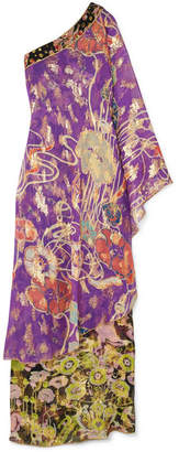 Dundas - Fil Coupé Silk-chiffon Maxi Dress - Violet