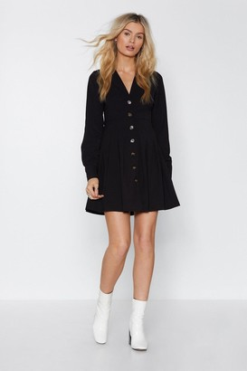 Nasty Gal Boogie On Button-Down Dress