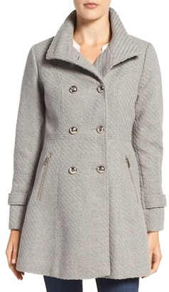 Women's Jessica Simpson Fit & Flare Officers Coat $240 thestylecure.com