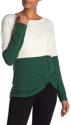 Style Rack Knit Twist Knot Front Sweater