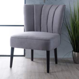 Noble House Ernesto Light Grey Fabric Accent Chair