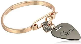 Rebecca Minkoff Guitar Pick Hinged Rose Gold Cuff Bracelet