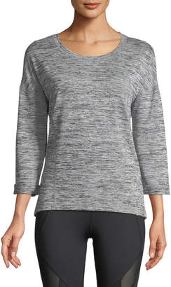 Marc Ny Performance Marled-Knit Laced-Back Pullover