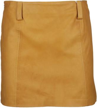 Vintage De Luxe Vintage Deluxe Mini Leather Skirt