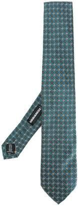 DSQUARED2 patterned jacquard tie