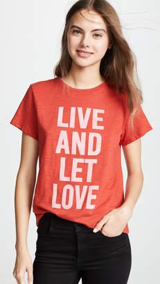 Cinq à Sept Tous Les Jours Live And Let Love Tee
