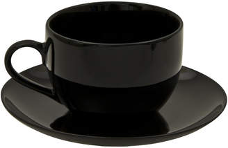 10 Strawberry Street Ten Strawberry Street Set Of Six Black Coupe Cups And Saucers