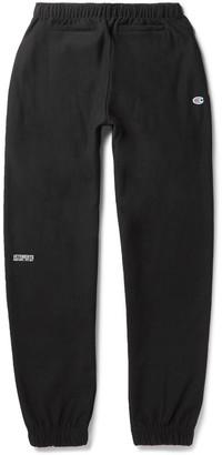 Vetements + Champion Slim-Fit Loopback Cotton-Blend Jersey Sweatpants $725 thestylecure.com