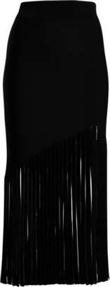 Cushnie et Ochs High-Waist Fringe Skirt
